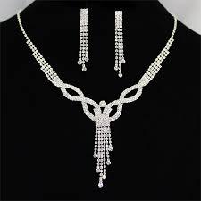 swarovski crystal necklace set images Twist shape dangled tassel swarovski crystal necklaces set cas jpg