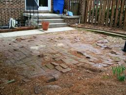 custom stoneworks u0026 design inc brick patio do over in baltimore