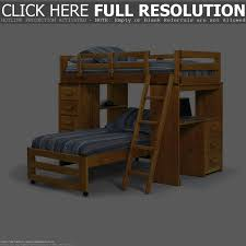 Wooden Bunk Beds With Desk Chicago Loft Beds Solid Wood Loft Bed - Wood bunk bed with futon
