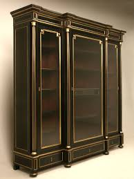 Narrow Mahogany Bookcase by Restored French Ebonized Mahogany Bookcase Or Display Cabinet
