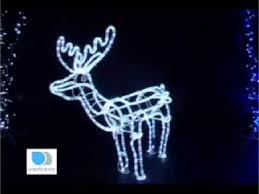 Deer Christmas Lights Premier Large 3d White Led Animated Standing Reindeer Christmas
