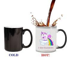 novelty coffee mugs unicorn mugs rainbow mug novelty coffee tea heat sensitive mug