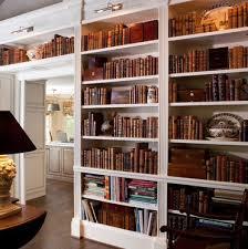 librerie bianche boiserie libreria di falegnameriesumisura