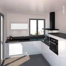 cuisine implantation cuisine blanche sans poignée ipoma blanc brillant kitchens