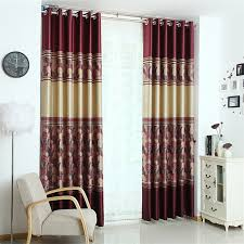 Burgundy Curtains For Living Room Graceful Solid And Leaf Print Curtains Of Burgundy Color