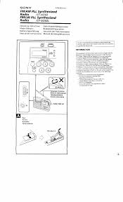 sony clock radio manual sony icf m260 user manual 19 pages