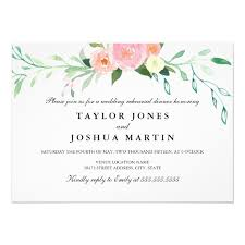 Rehearsal Dinner Invites Wildflower Watercolor Rehearsal Dinner Invite Zazzle Com