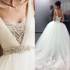 poofy wedding dresses discount 2015 custom made tulle big poofy gown wedding