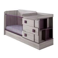 chambre bébé bébé 9 lit combi 60x120 lena violine delais l500cv bebe9 nc