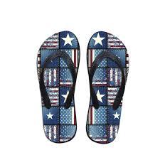 American Flag Shoes Kiskistonite The American Flag Pattern Beach Shoes Flip