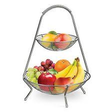 tiered fruit basket tramontina 2 tier fruit basket steel display stand ebay