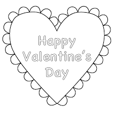 heart happy valentine u0027s day coloring page valentine u0027s day