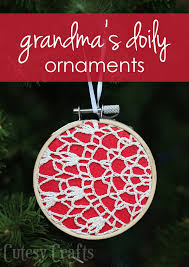 ornaments from s doilies cutesy crafts