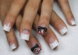 simple french nail art best nail 2017 simple french tip nail art