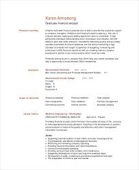 financial analyst resumes resume template financial analyst resume format free career