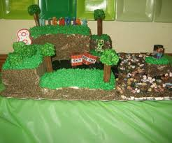 minecraft birthday cake with pictures
