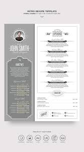Stand Out Resume Retro Resume Template Resume Templates Creative Market