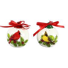 and cardinals ornaments salt and pepper