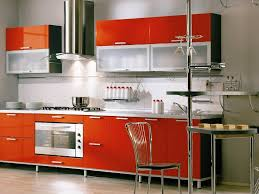 modular kitchen furniture modular kitchen with orange cabinet 4 home ideas