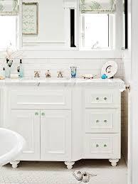 White And Green Bathroom - white and green bathroom cottage bathroom bhg
