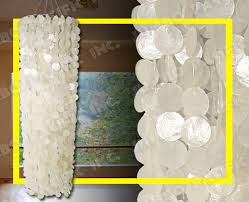 Round Capiz Chandelier Capiz Chandelier Capiz Lamp Shades Capiz Curtains Collection