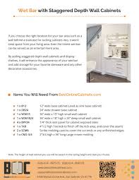 what is the depth of wall cabinets bestonlinecabinets design idea bar with staggered