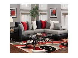 Pillow Back Sofas by Washington Furniture 6700 Sectional With Rsf Chaise And Pillow