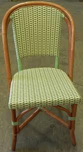 Green Bistro Chairs Parisian French Bistro Rattan Chair Ivory Lime Beige Matt