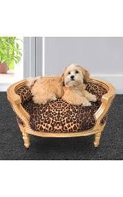 canapé lit pour chien canapé lit pour chien ou baroque tissu leopard et bois doré