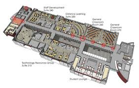 de anza college media and learning center building layout