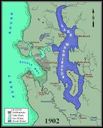 seattle map green lake lake washington history