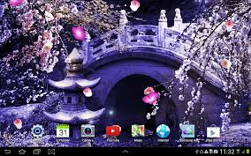 live halloween background mystic sakura live wallpaper android apps on google play