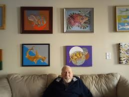 paintings from home that is a gallery of undersea art on display