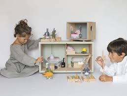 Best Eco Friendly Dollhouses From by Encore Toys U2013 Eco Friendly Wood Dollhouses U2013 Stuffed Bunny Family