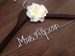 wedding dress hanger bride hanger last name by deighandesign