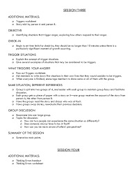 Anger Management Worksheets For Therapy For Anger Management Curriculum