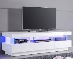 meuble tv pour chambre meuble tv design blanc avec éclairage led intégré idées pour la