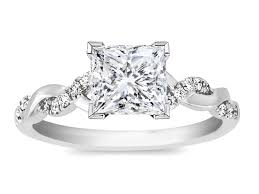 twisted band engagement ring engagement ring princess twisted pave band