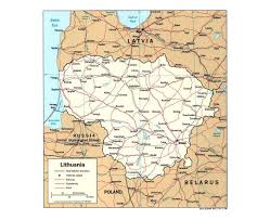 Baltic Sea Map Maps Of Lithuania Detailed Map Of Lithuania In English Tourist