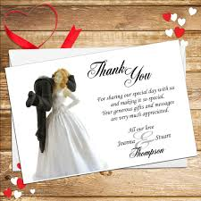 Groom To Bride Card 10 Personalised Bride And Groom Humour Wedding Thank You Cards N3
