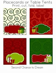free christmas party printables second chance to dream