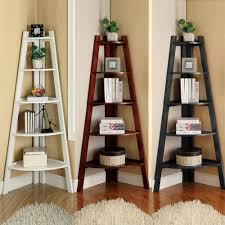 white cherry black storage ladder shape bookcase bookshelf display