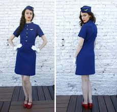 Halloween Flight Attendant Costume Gorgeous 1960s Panam Stewardess Costume Halloween
