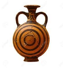 Greek Vase Images Decorated Greek Vase Isolated On White Background Stock Photo