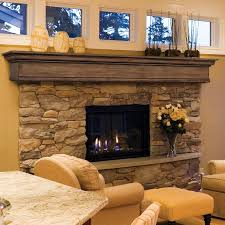 fireplace mantel and bookshelves american hwy