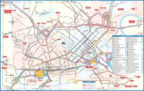 Bus Map Large Detailed City Bus Map Of Ho Chi Minh City Ho Chi Minh City