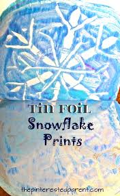 negative space tin foil snowflake prints winter u0026 christmas arts
