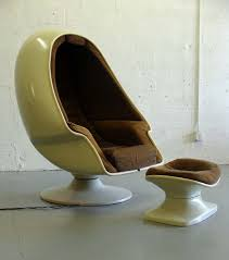stereo egg chair molded fiberglass by lee co retro panton mid