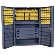 cabinet with shelves and doors 48 wide cabinet deep box door 4 drawers 72 bins 13 shelves dc