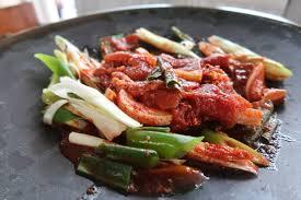 island cuisine jeju island cuisine stir fried pork marinade and fresh squid